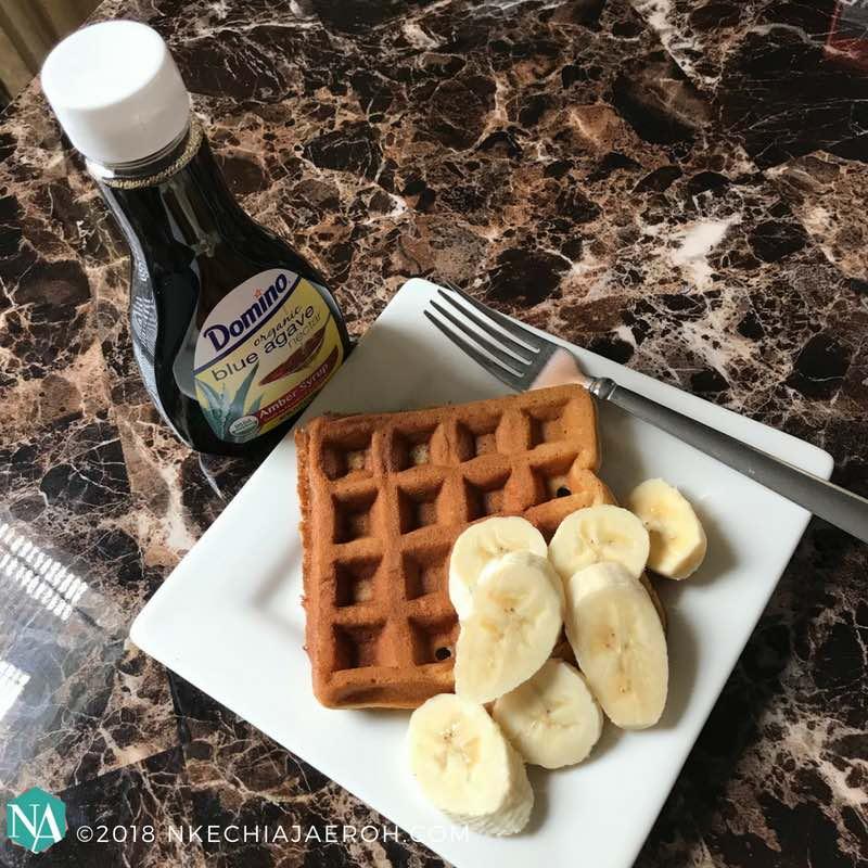 Sweet Banana-Oat Waffle Recipe
