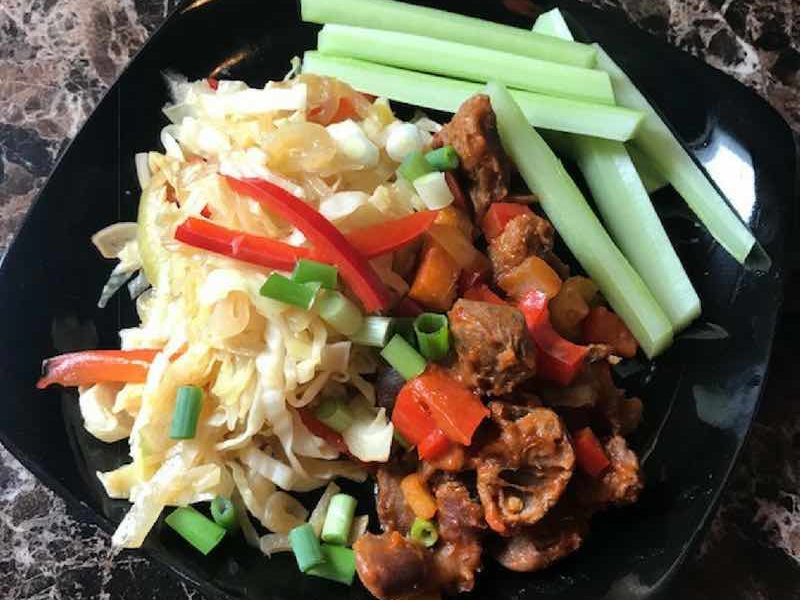 How To Make A Healthy Chicken Gizzard And Cabbage Stir Fry Nkechi