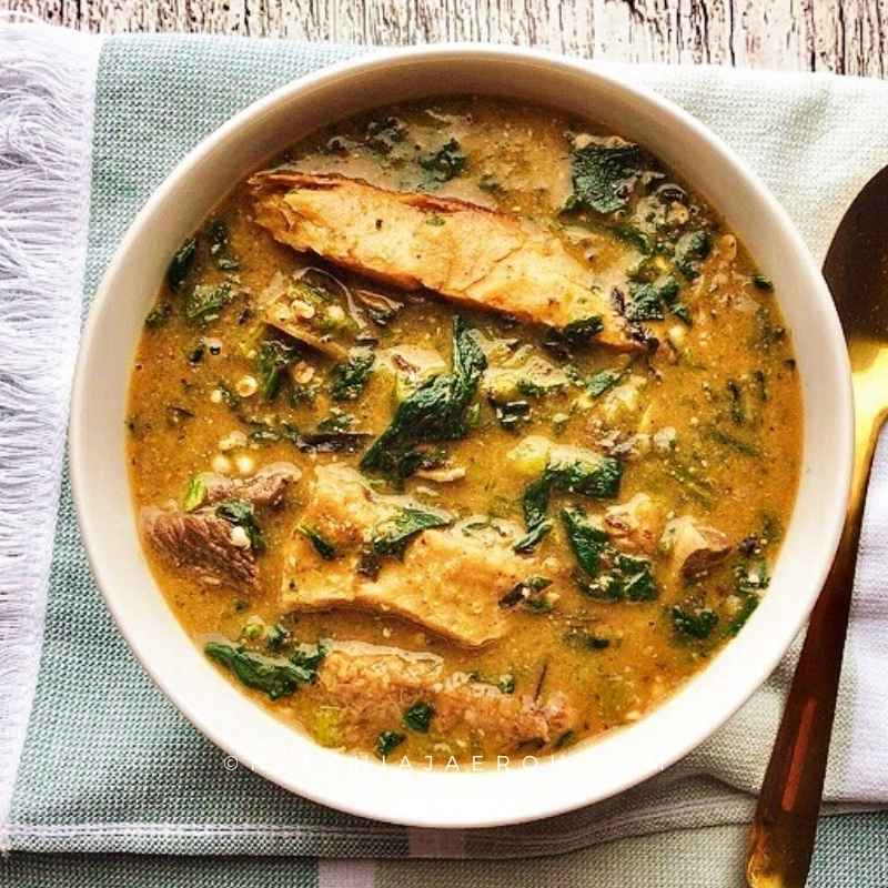 How To Make Easy Nigerian Okra And Ogbono Soup Nkechi Ajaeroh