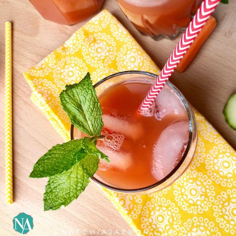 Refreshing Minty Watermelon Carrot Drink Recipe