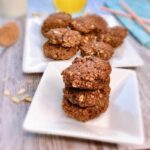 Healthy oatmeal almond breakfast cookies with banana and peanut butter; his healthy vegan almond oat cacao cookie is a guilt-free and delicious