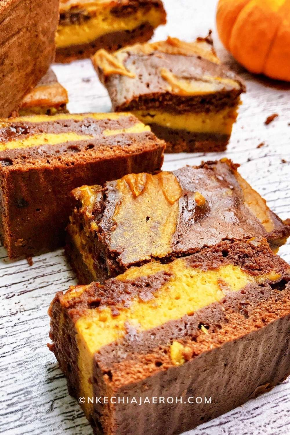 Healthy and delicious Pumpkin Brownies Recipe. I will say that making these yummy fudgy pumpkin brownies was terrific. Fortunately, it was so worth the time! Please see the recipe card below for the exact quantity. You are welcome to have a piece or two or three. #Pumpkinseason #fall #pumpkinbrownies