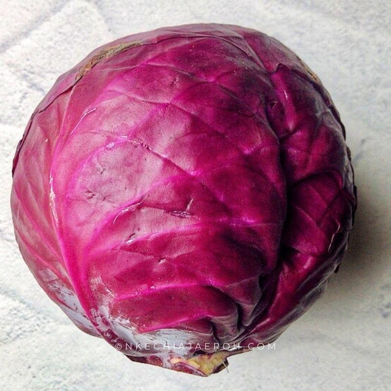 Raw red purple cabbage