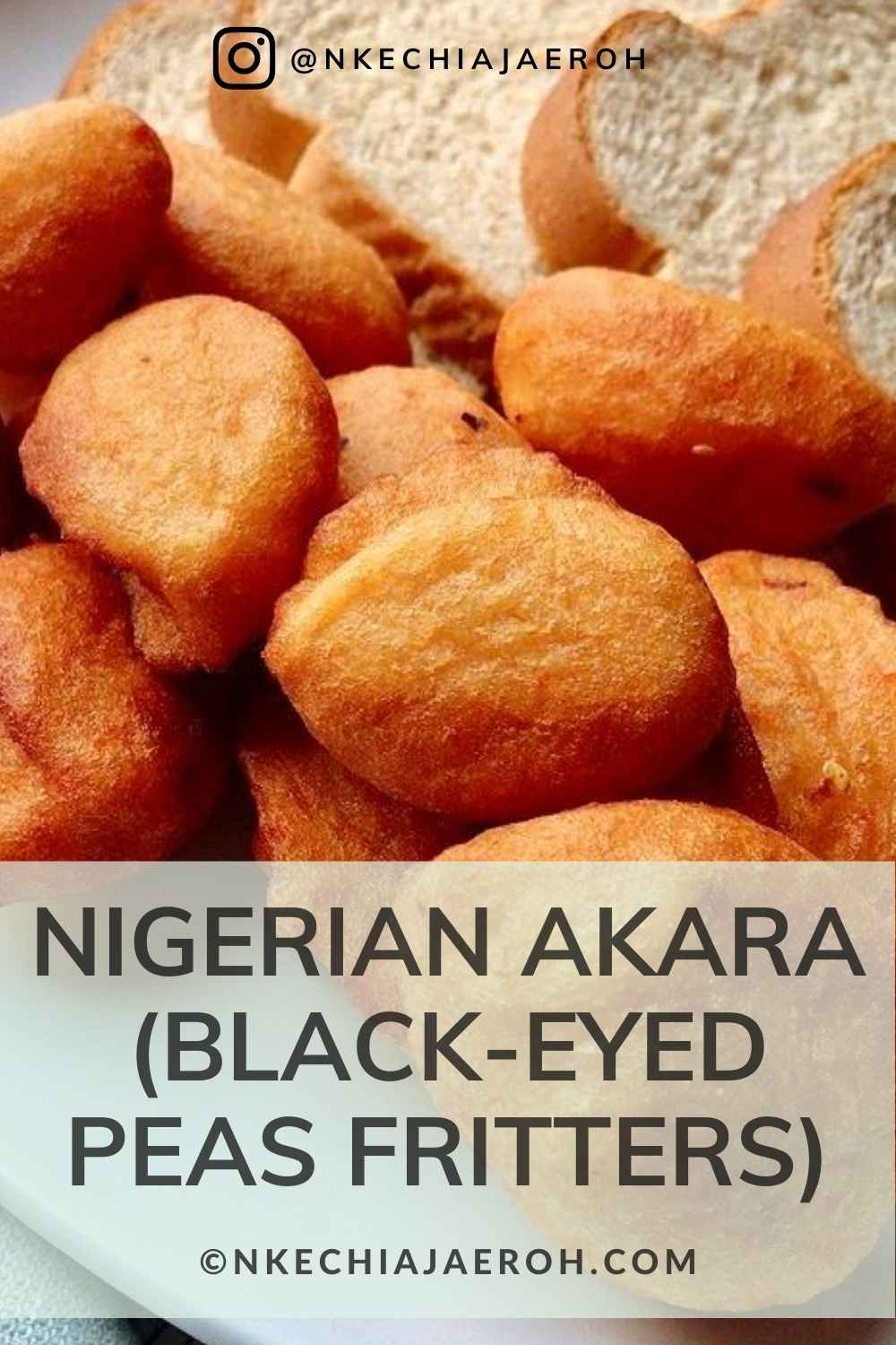 Learn how to make the best Nigerian Akara, also known as Black-eyed peas fritters. Akara, equally called beans cakes, beans ball, koosé, or acarajé, is a popular street food enjoyed across Africa and beyond. To make Akara, you start by de-skinning/peeling the beans (black-eyed peas), then you blend it into a paste, and then fry them up. Eat these fritters with bread, corn pudding, or custard. #Akara #Beansfritters #Beansrecipe #Nigerianfood #blackeyedpeasfritters #Howtomakeakara #Africanfood