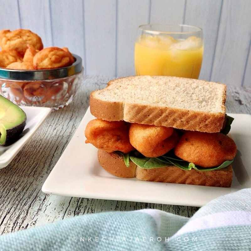 #healthy #burger is achievable with a simple Akara, and bread. This is also like Akara sandwich
