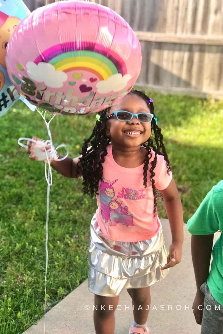 Social distancing self isolation kids birthday