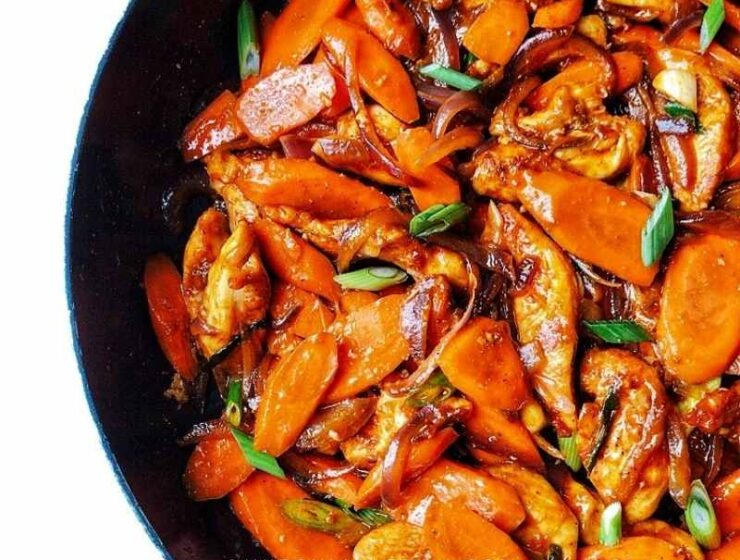 Serve this stir-fry with rice, quinoa or it eat by itself!