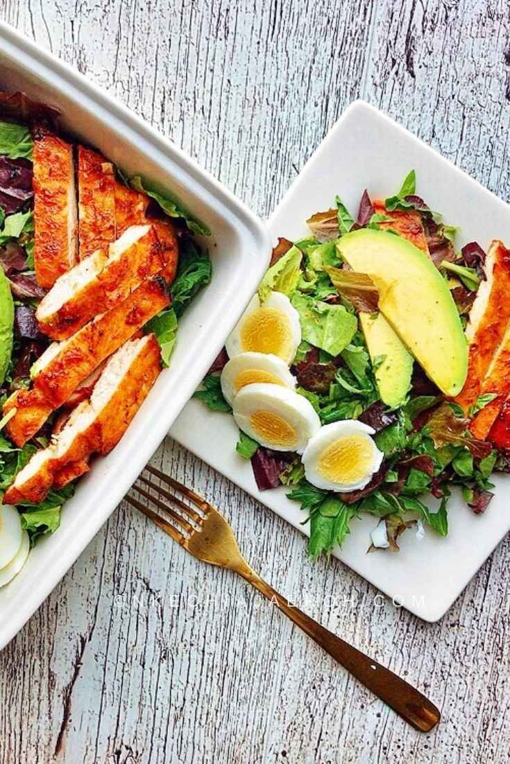 Healthy spring mix salad with only four ingredients. This salad I can be a great lunch or dinner