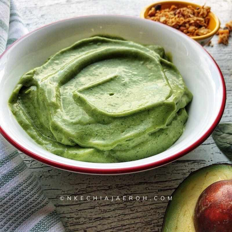 Ultimate avocado smoothie bowl with granola