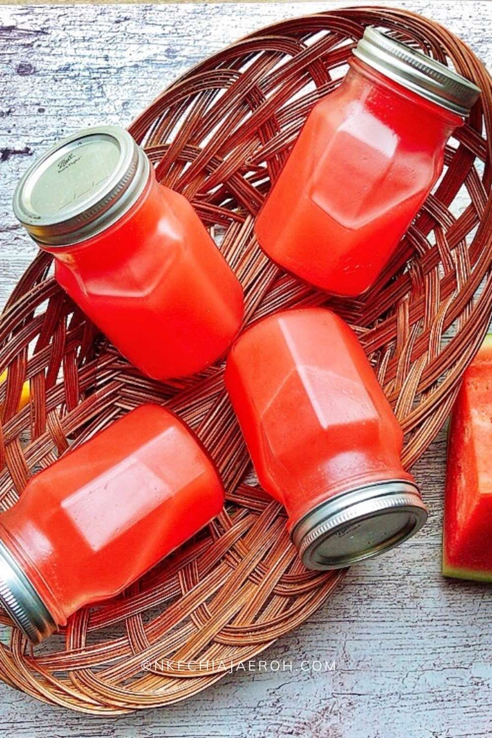 Fill up this drink into jars, chill and carry in basket like when going for a picnic!
