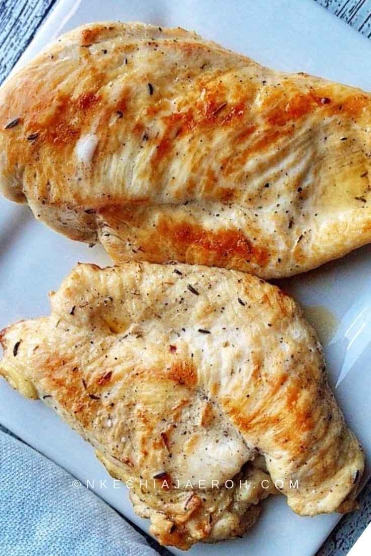 Sautéed Chicken breasts for making Chicken taco bowl recipe