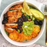 Easy to make chicken taco bowl