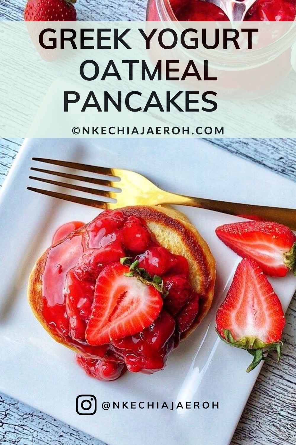 These healthy and delicious Greek Yogurt Oatmeal Pancakes are hands down the best pancake recipe. And the best part is that it does not require additional refined sugar! These pancakes are for kids, adults, and just everyone. These are the ultimate fluffy pancakes, in my opinion, and I will love for you to try them!