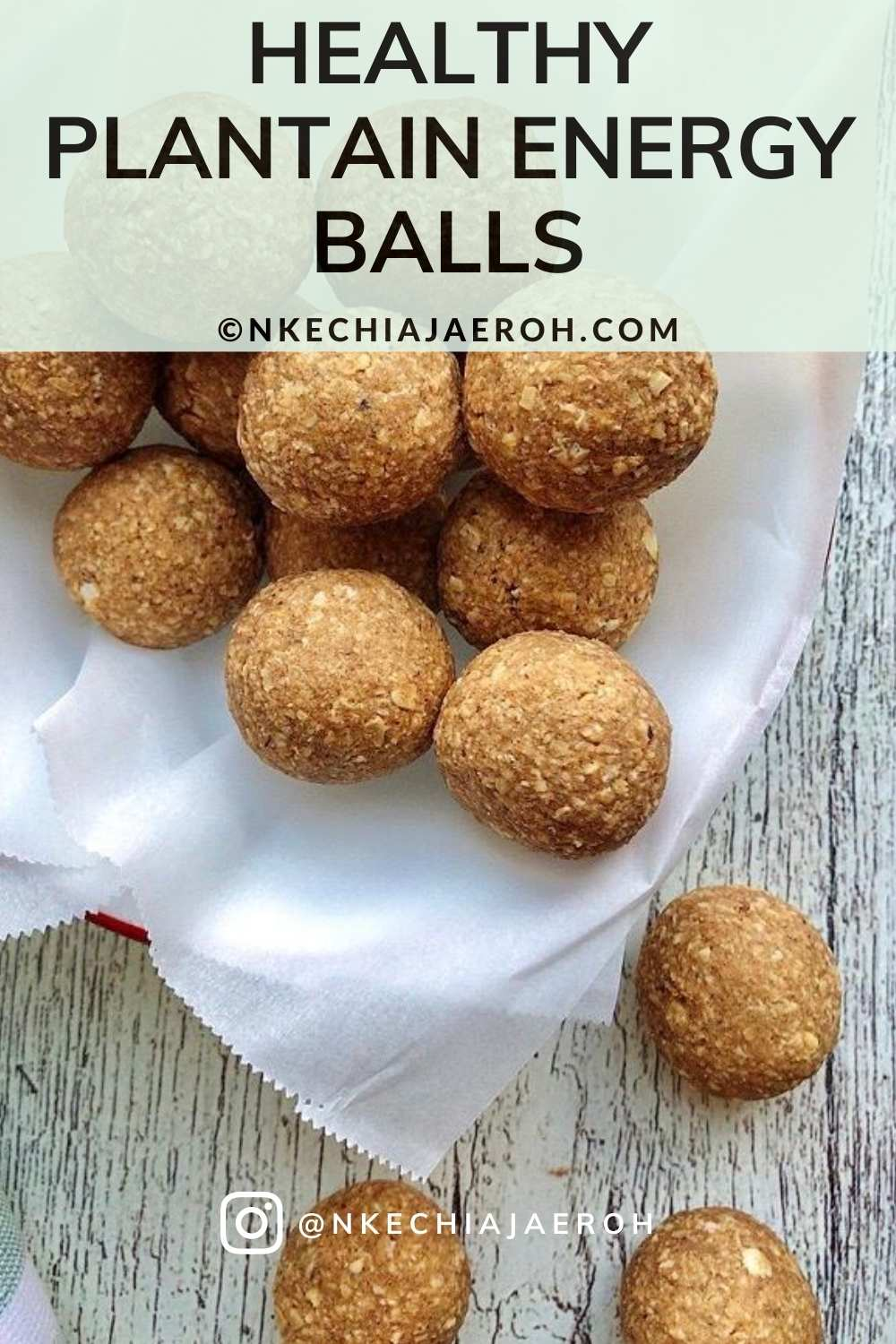 Healthy sweet yellow ripe plantain energy balls. Vegan, gluten-free, paleo-friendly, low carb, sweet, savory, and insanely delicious. These healthy protein bites require only three main ingredients – ripe (sweet yellow) plantain, oats, and nut butter. Healthy vegan snacks excellent pre and post work out snacks. On the go and kid-friendly snacks. Healthy bites for appetizers, side dishes, and dessert. #plantainballs #howtomakeplantainballs #oatmeal #healthyrecipes #energybites #energyballs
