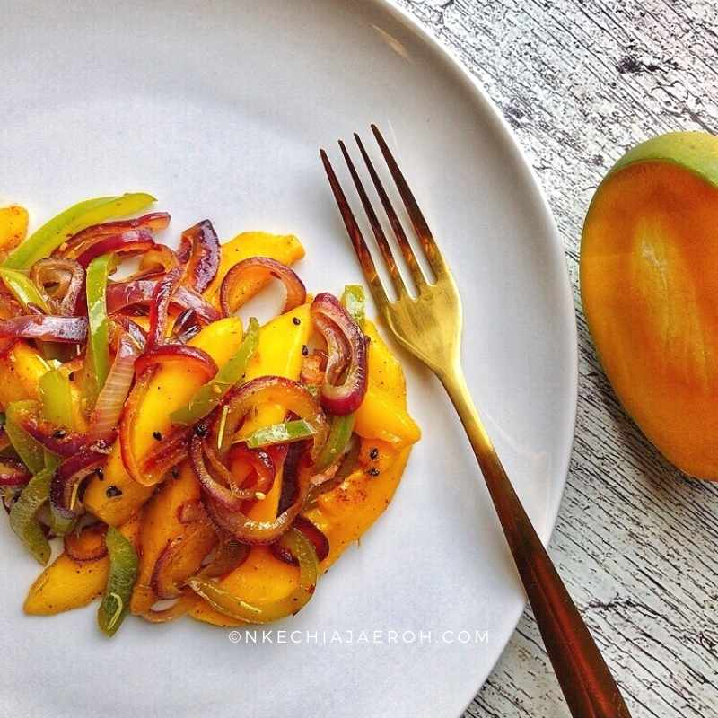 The best Fresh Mango Recipe? YES I love using fresh ripe mango to make this dish; it brings in the right sweetness, softness, and juiciness that makes this stir fry perfect. Personally, I cannot have it any other way!
