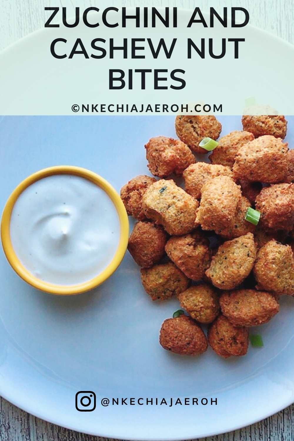 Healthy and Delicious Zucchini and Cashew Nut Bites. This is the hands-down the best zucchini snack recipe, made with some toasted cashew nuts, oatmeal flour, almond flour, egg, and fried in peanut oil. These bites or balls (whatever you choose to call them) are perfect for every member of the family! You can serve these as an appetizer!
