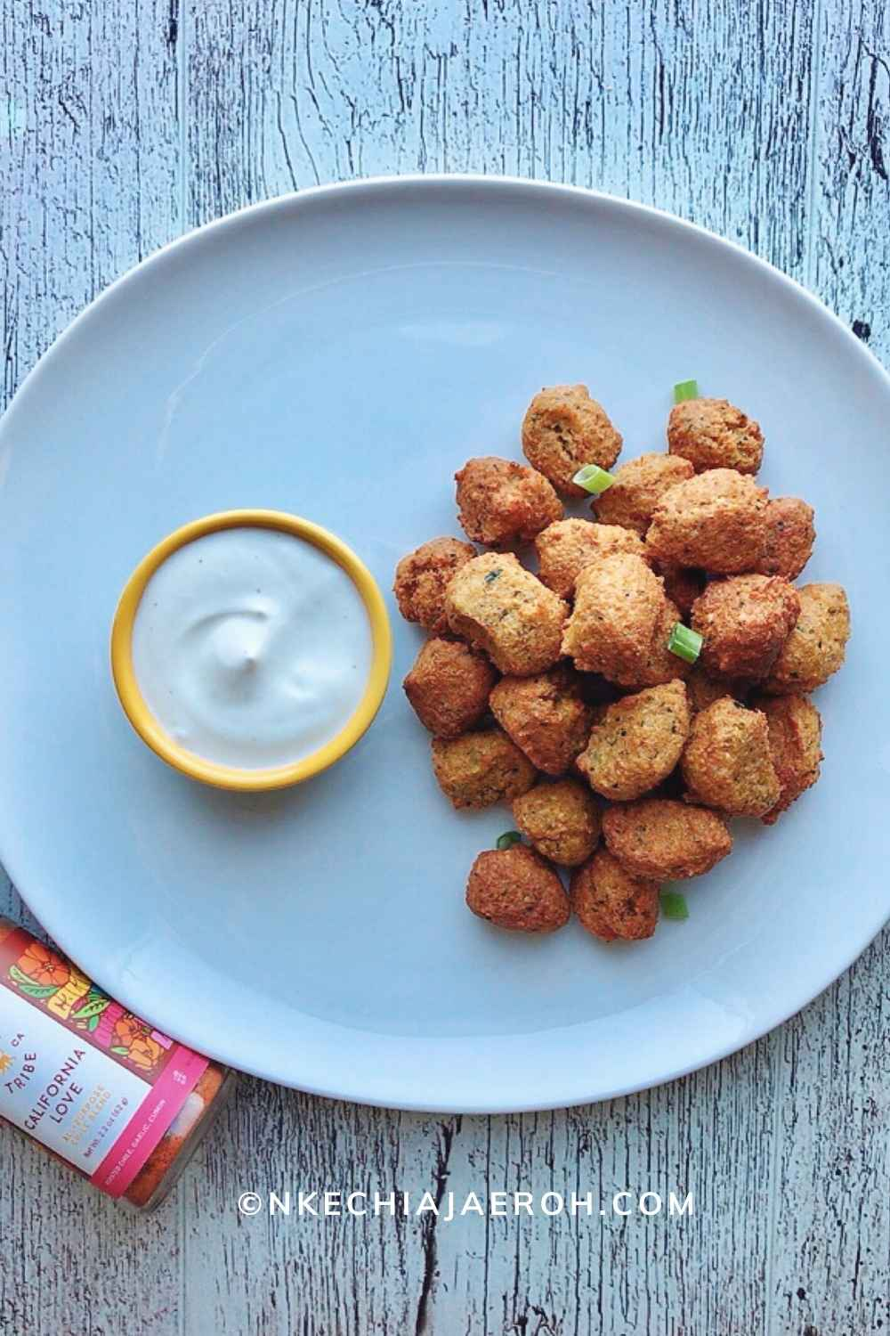 """The Best Zucchini and Cashew Nut Bites. Like I mentioned earlier, these are not Zucchini fritters but can also fit in that shoe, while also serving as """"chicken nuggets."""" Uniquely these vegetable snacks are insanely delicious and satisfying, these bites are flavorful and finger-licking good, and you may need to double this recipe to make more!"""