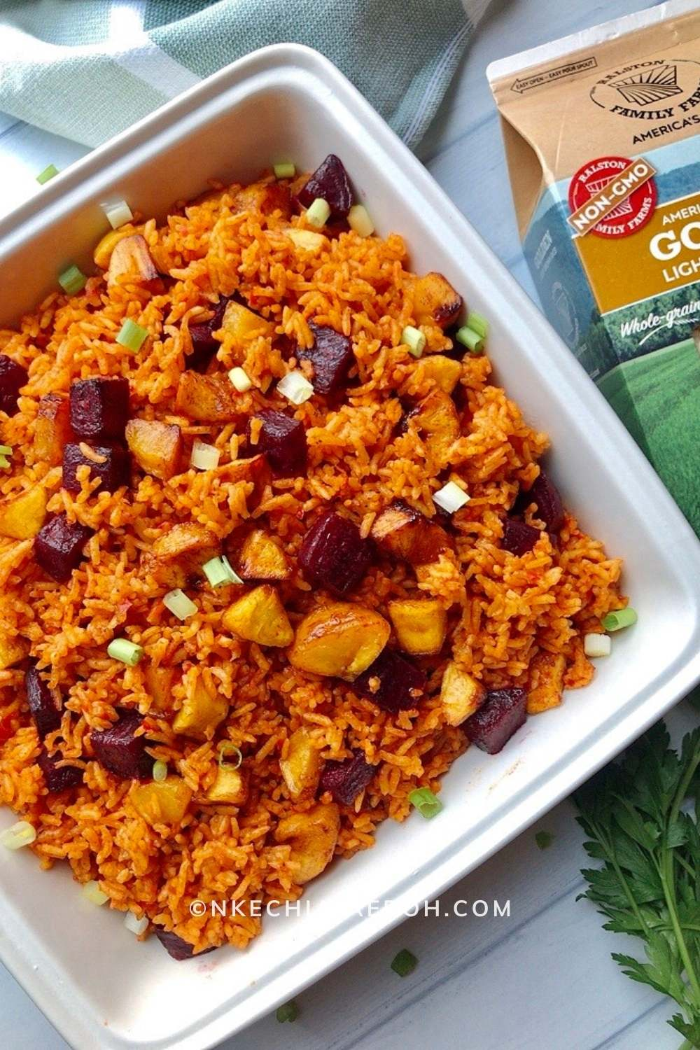 Gluten-free, dairy-free, and vegan brown rice recipe for the side dish!