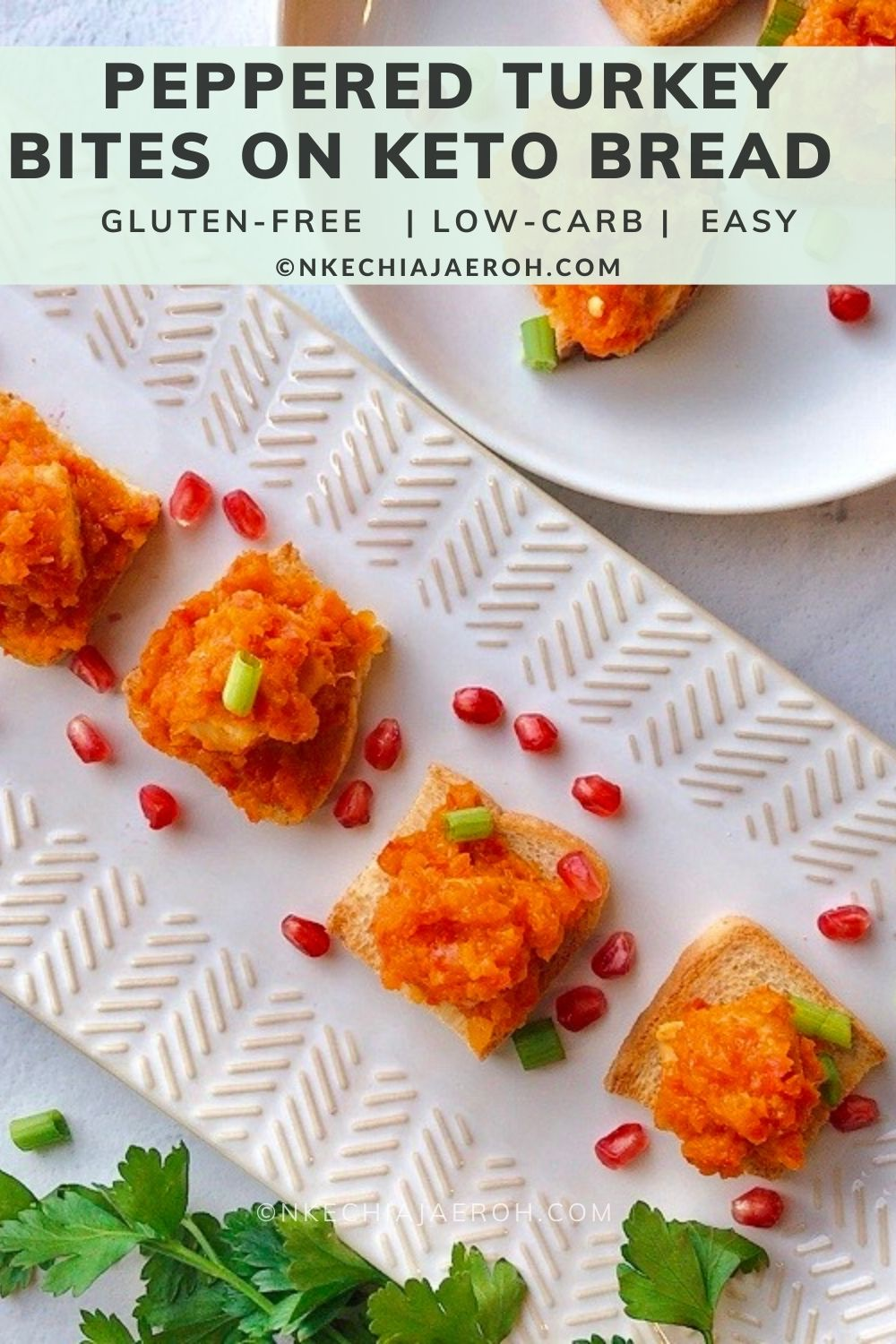 Super easy and delicious peppered turkey bites (Nigerian Style) I will unquestionably say that peppered meat recipes originated from Nigeria and typically very spicy. However, these peppered turkey bites are not spicy at all; I intentionally made them mild so that my kids would equally enjoy them!  You can add some spicy peppers like Habanero or Jalapeños if you wish to make this recipe spicy. The bottom line is to make this recipe to suit your desire.