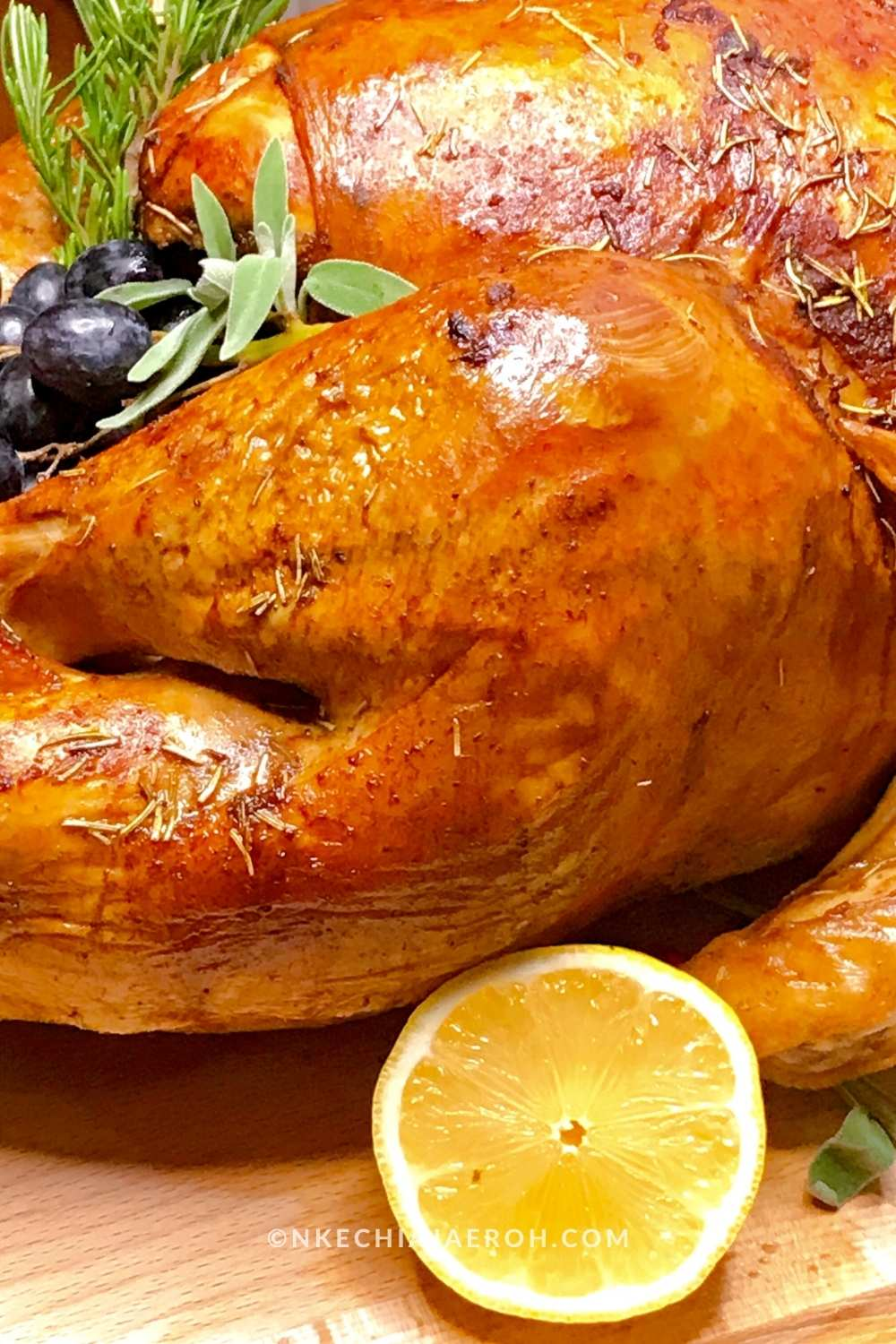 Among other dishes I make on this day, my Thanksgiving roasted turkey recipe is at the forefront. An easy and juicy oven-baked turkey recipe that any person can easily make! This recipe will guarantee you have the most succulent turkey breast, excellent turkey drumsticks, and overall best-roasted bird!