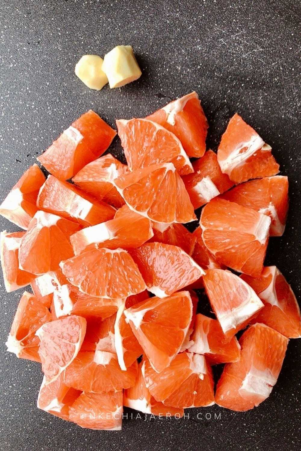 Cut the grapefruit accordingly or cut in half if using a citrus juicer
