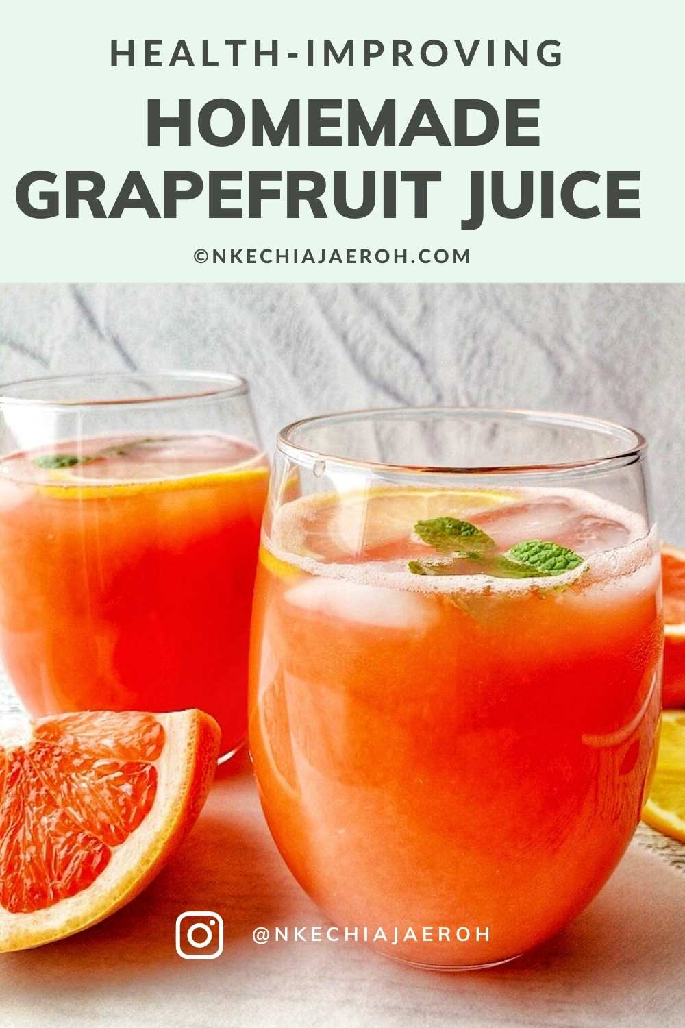 Grapefruit juice is juice from grapefruit; rich in antioxidants, healthy nutrients, and minerals. This refreshing homemade grapefruit juice is vegan, gluten-free, dairy-free, and nut-free! Why make Grapefruit juice at home? Homemade grapefruit juice is the way to consume grapefruit juice; this is because homemade grapefruit juice has no added sugars, artificial preservatives, or additives. Always best to make your foods yourself!