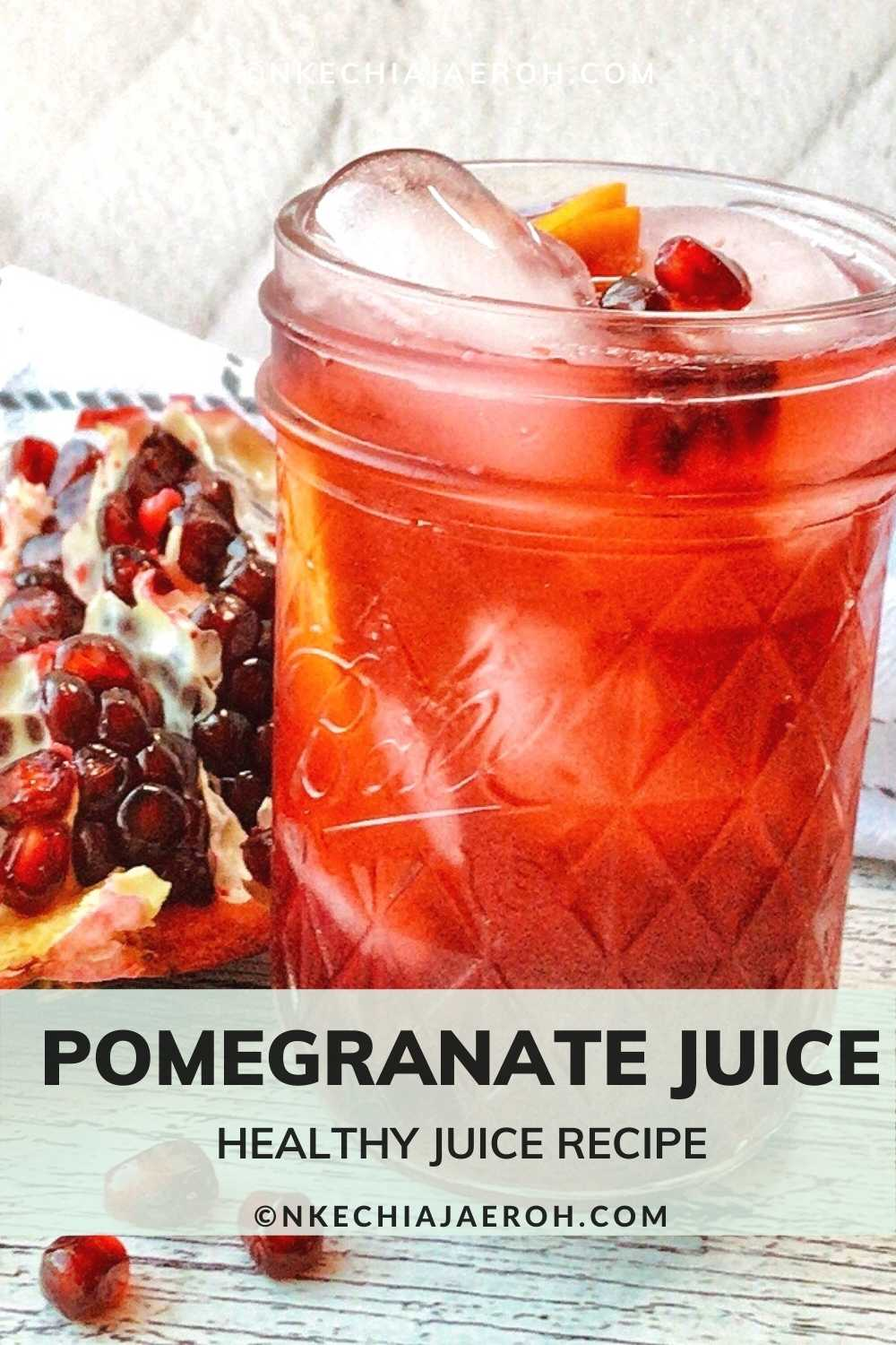 Pomegranate juice is sweet, tart, refreshing, and very nutritious. If you haven't had pomegranate juice before, stop it. Go make yourself some after reading this post! Today I am excited to share with you this very easy pomegranate juice recipe. This recipe requires two cups of pomegranate seeds, also known as arils; if you do not know how to seed a pomegranate, check my post on how to deseed a pomegranate.Juicing pomegranate is as simple as ABC; you can juice pomegranate with a blender or without a blender. However, this pomegranate juice recipe uses a blender.