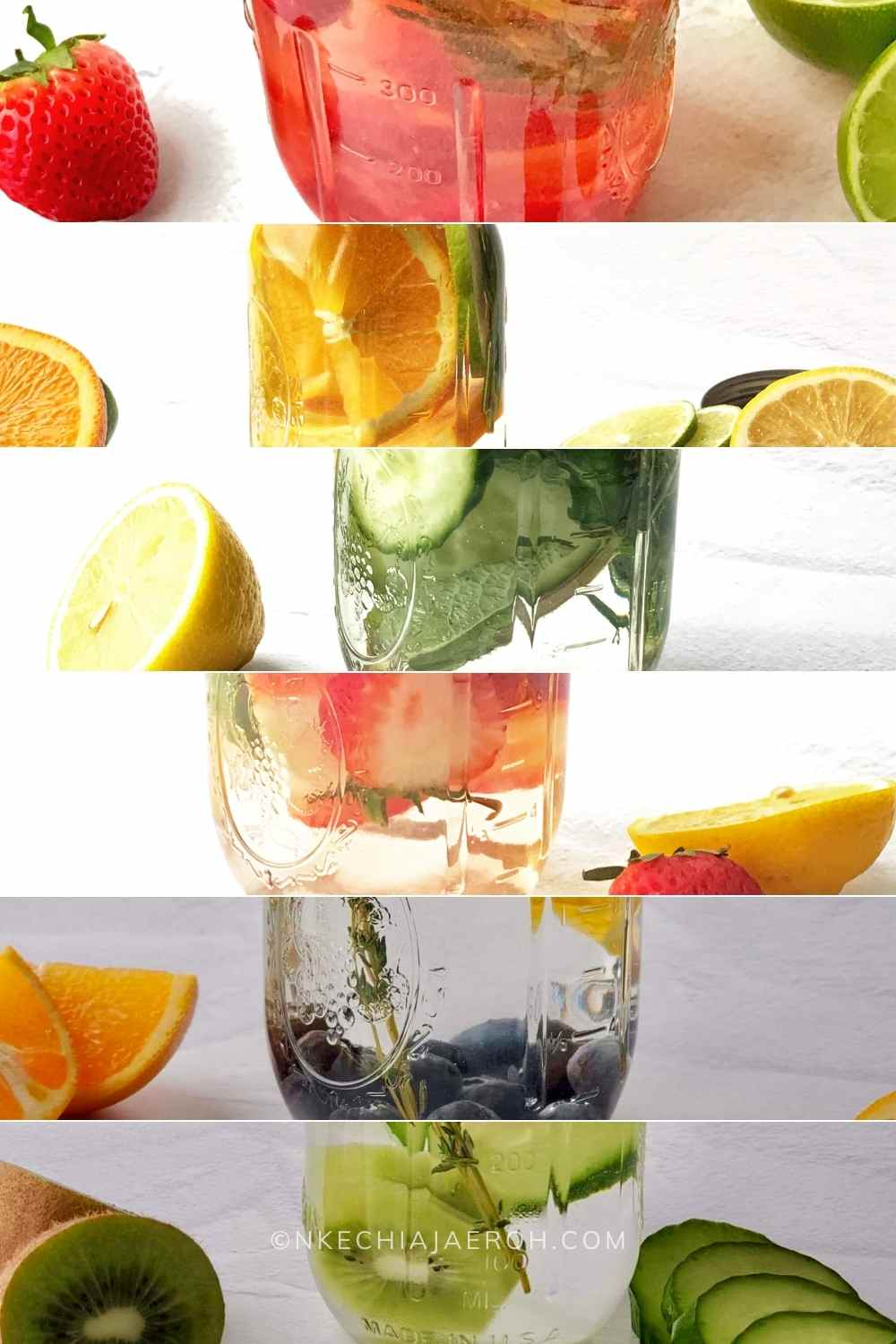 Best Infused water recipes for glowing skin Drink more water with DIY naturally flavored water, aka homemade fruit water! These fruit infused water recipes for glowing skin are health-improving, refreshing, and will surely keep you hydrated. Fruit-flavored water comes in handy during warm weather as we naturally tend to drink more water then. With these fruit water recipes, you can confidently keep the summer heat at bay and stay hydrated as you should. #Infusedwater #fruitwater #vitaminwater #DIYfruitinfusedwater #detoxwater #Strawberrywater #cucumberwater #citruswater