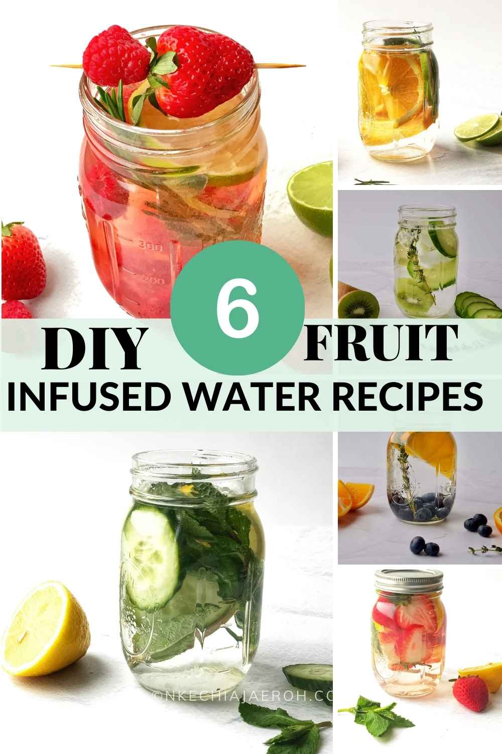 Best Infused water recipes for glowing skin Drink more water with DIY naturally flavored water, aka homemade fruit water! These fruit infused water recipes for glowing skin are health-improving, refreshing, and will surely keep you hydrated. Fruit-flavored water comes in handy during warm weather as we naturally tend to drink more water then. With these fruit water recipes, you can confidently keep the summer heat at bay and stay hydrated as you should. #Infusedwater #fruitwater #vitaminwater #DIYfruitinfusedwater #detoxwater