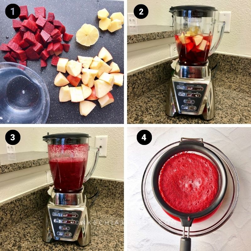 The process photo of making this recipe in the blender.