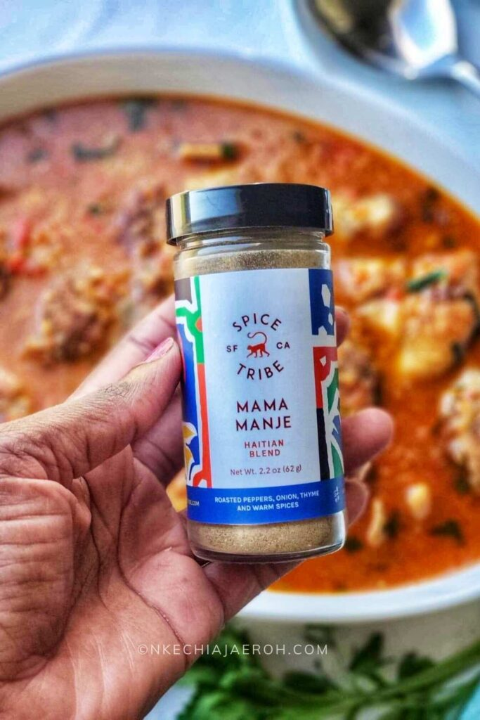 I used Spice Tribe's Haitian blend to make this recipe, and iit make it very flavorful!