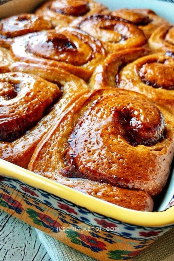 Homemade cinnamon rolls recipe with date filling is easy, tasty, healthy, and simply the best sticky buns because you made them from scratch! Yippee! These rolls are perfect for breakfast, brunch, or desserts! These surprisingly easy-to-make cinnamon buns are comforting and satisfying; they make for a pretty excellent breakfast for those special mornings! Also, perfect for brunch, dessert, or snacks; the best part is that this cinnamon roll recipe is healthier than those you can typically buy from the mall or store.