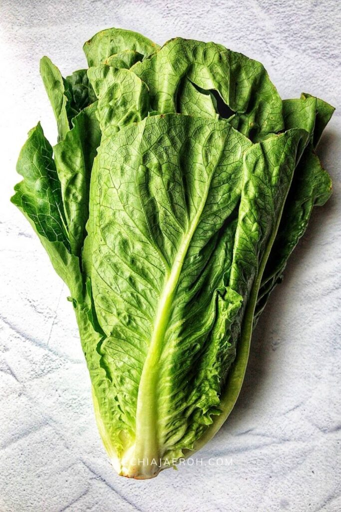 Raw lettuce for cheese burger lettuce wraps