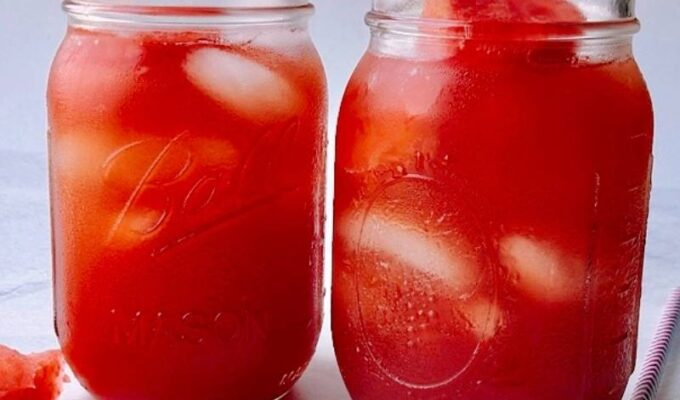Homemade watermelon iced tea is the ultimate summer cooler drink! And the best part is that it requires only a few ingredients and is easy to make! Luckily, this refreshing thirst quencher is perfect for hot days! If you have a fresh watermelon and some tea bags, you are in for a treat! This satisfying watermelon sweet iced tea recipe will surely keep you energized, refreshed, and hydrated! Let's just say this is an excellent drink for the entire family.