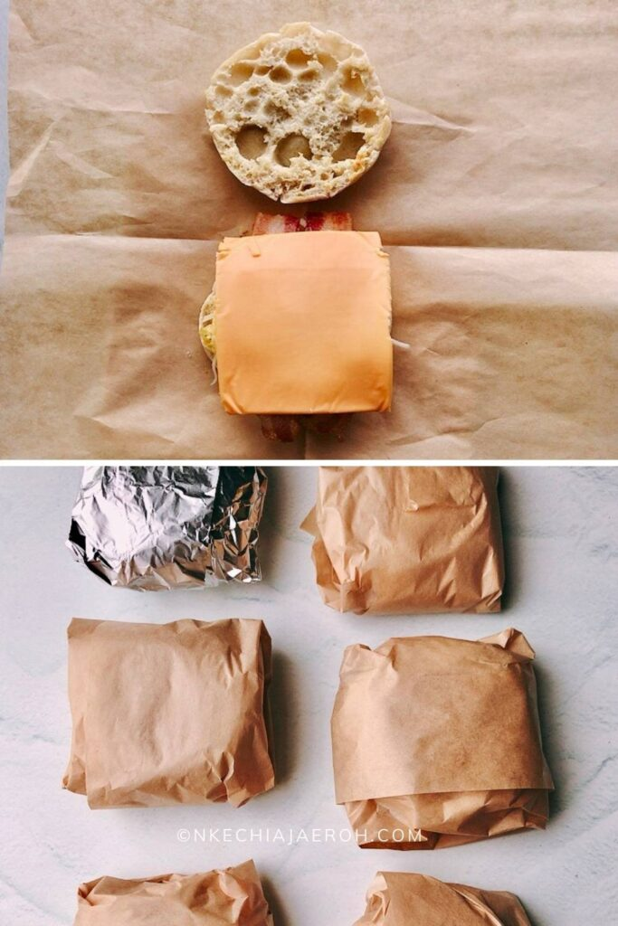 Place a sandwich wrapping paper and wrap individually!