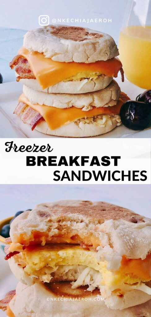 Easy and tasty make-ahead freezer breakfast sandwiches are excellent for breakfast meal prep. This recipe is equally ideal for grab-n-go breakfasts or back-to-school breakfasts, aka school morning breakfasts for kids. These freezer-friendly breakfast sandwiches are satisfying breakfast options for kids and adults! You can double batch, make ahead and freeze! #breakfast #breakfastsandwiches #eggmcmuffins #freezerbreakfastsandwiches #Freezerbreakfast #breakfastmeal #mealprep #mealplanning #freezerfriendlymeals